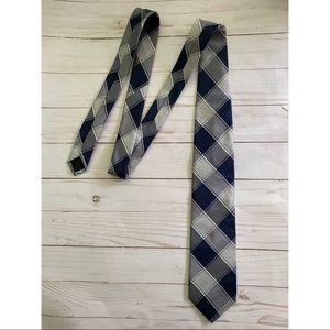Brooks Brothers Silk Blue Silver Tie